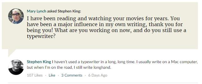 Ο Stephen King λατρεύει