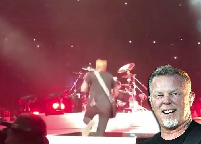 πέφτει ο Hetfield