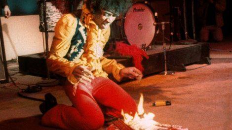 Jimi Hendrix φωτιά στην κιθάρα